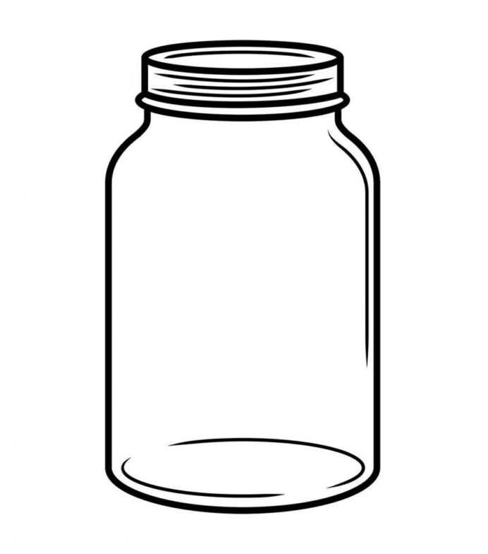 nice photograph set of coloring suitable intended in style kids drawing and colored jars coloring pages Mason Jar Coloring Page