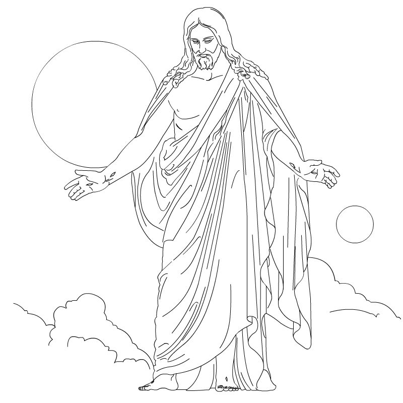 nice wallpapers jesus christ ascension coloring and line art drawing images christus sky coloring pages Jesus Christ Coloring Page