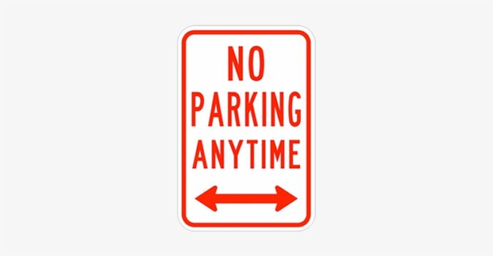 no parking anytime double arrow printable signs image transparent free on seekpng olaf coloring pages Free Printable No Parking Signs