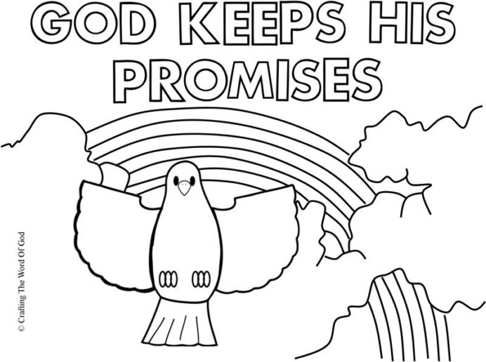 noah crafting the word of ark rainbow coloring keeps his promises mindful christmas clip coloring pages Noah's Ark Rainbow Coloring Page