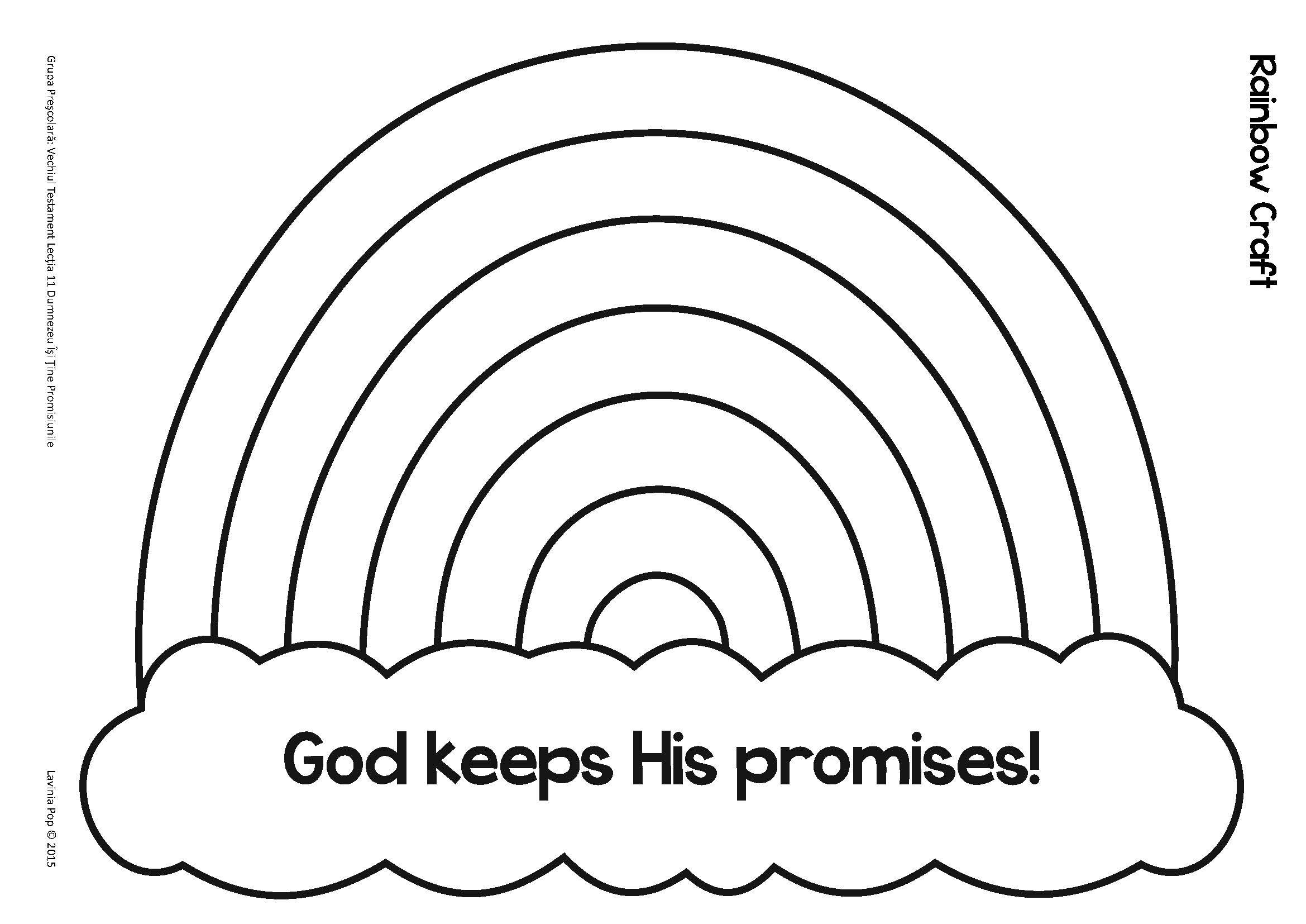 noah the flood evergreenchurch keeps his promises coloring rainbow craft template coloring pages God Keeps His Promises Coloring Page