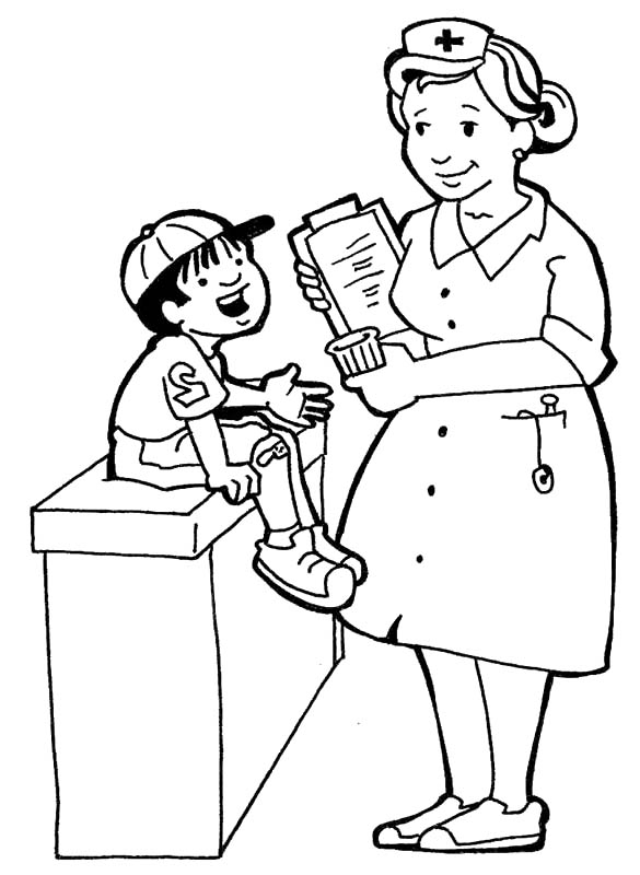 nurse coloring best for kids helpful coral reef craft snowman to color thankful family coloring pages Nurse Coloring Page
