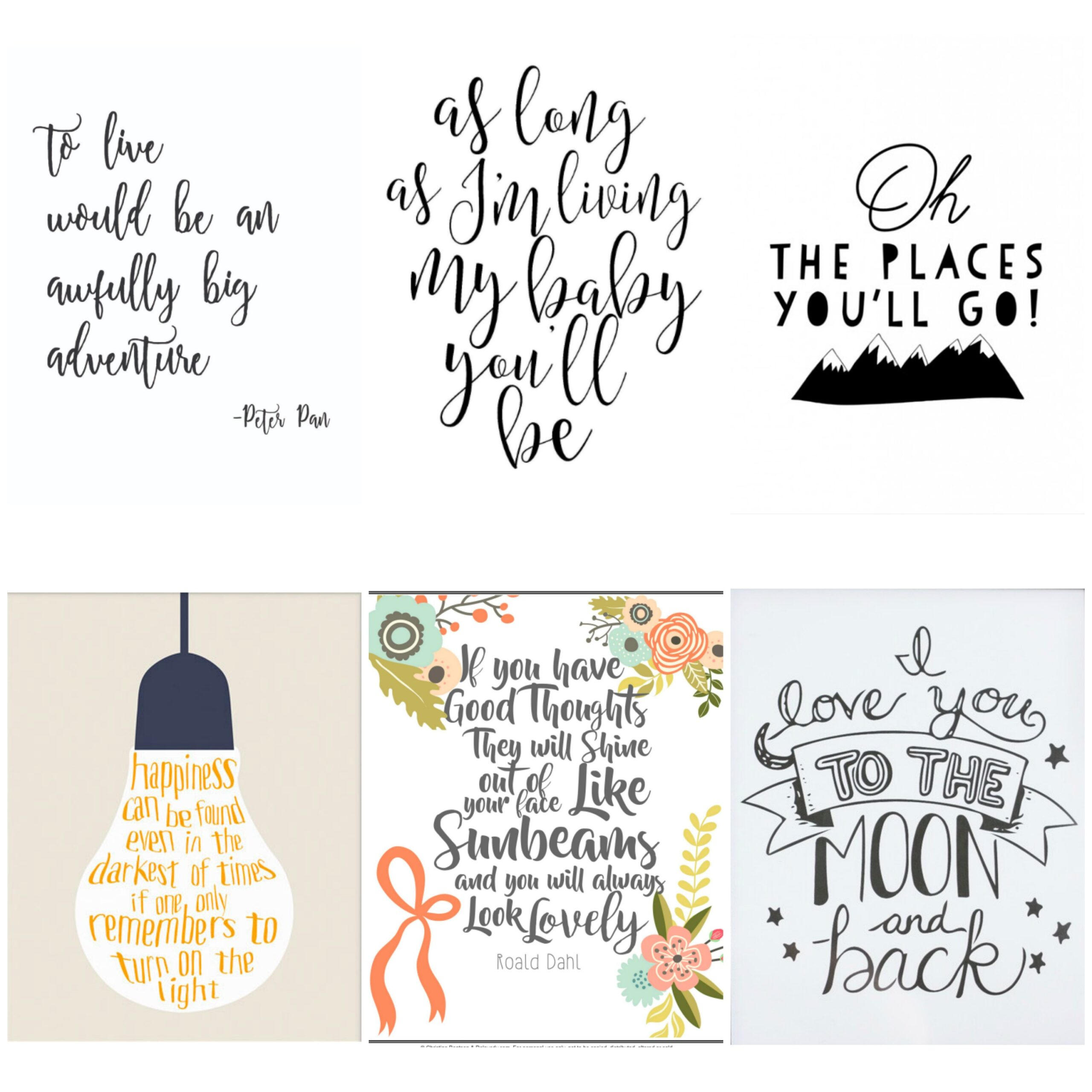 nursery decor series free printable quotes for kids learn about comets lakshmi colors coloring pages Free Printable Love Quotes