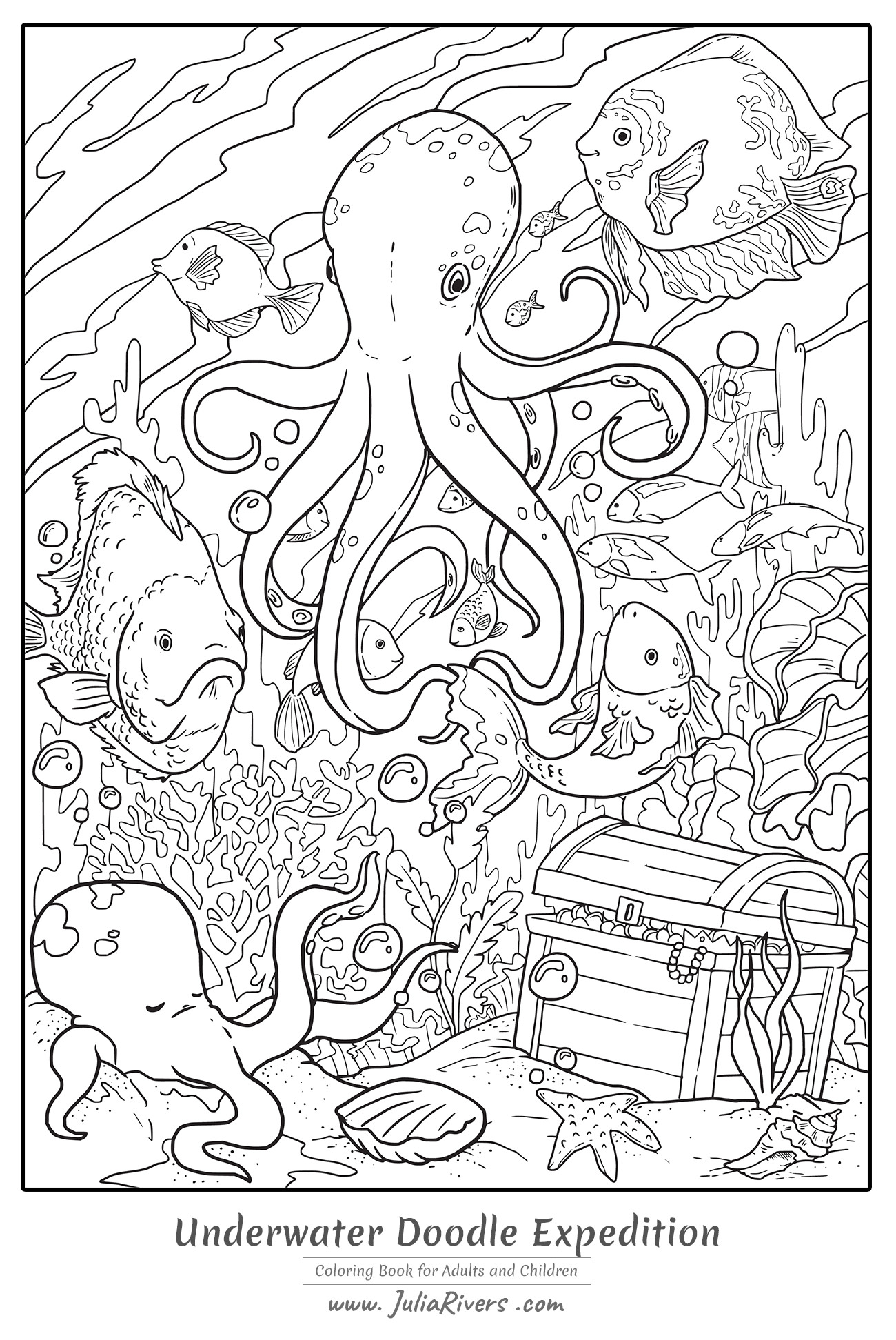 octopus coloring for adults adult underwater doodle expedition color pencil techniques coloring pages Octopus Adult Coloring Page
