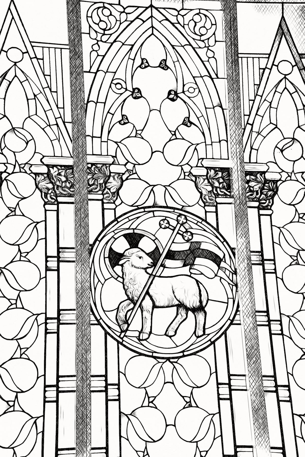 of catholic coloring from sdcason dot colored mandala composition the mummy mask free coloring pages Lamb Of God Coloring Page