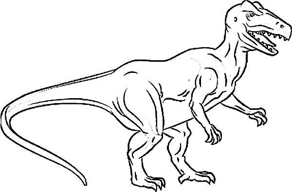 of hungry allosaurus coloring kids play color pictures turtle legs and head cut out coloring pages Allosaurus Coloring Page