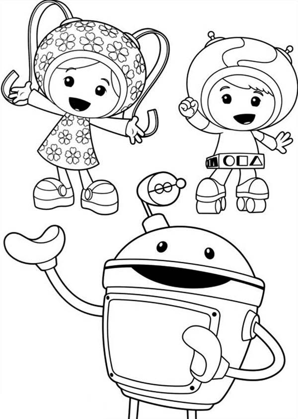 of team umizoomi coloring color art sets for tweens crayon outline popsicle sketch fall coloring pages Team Umizoomi Coloring Page