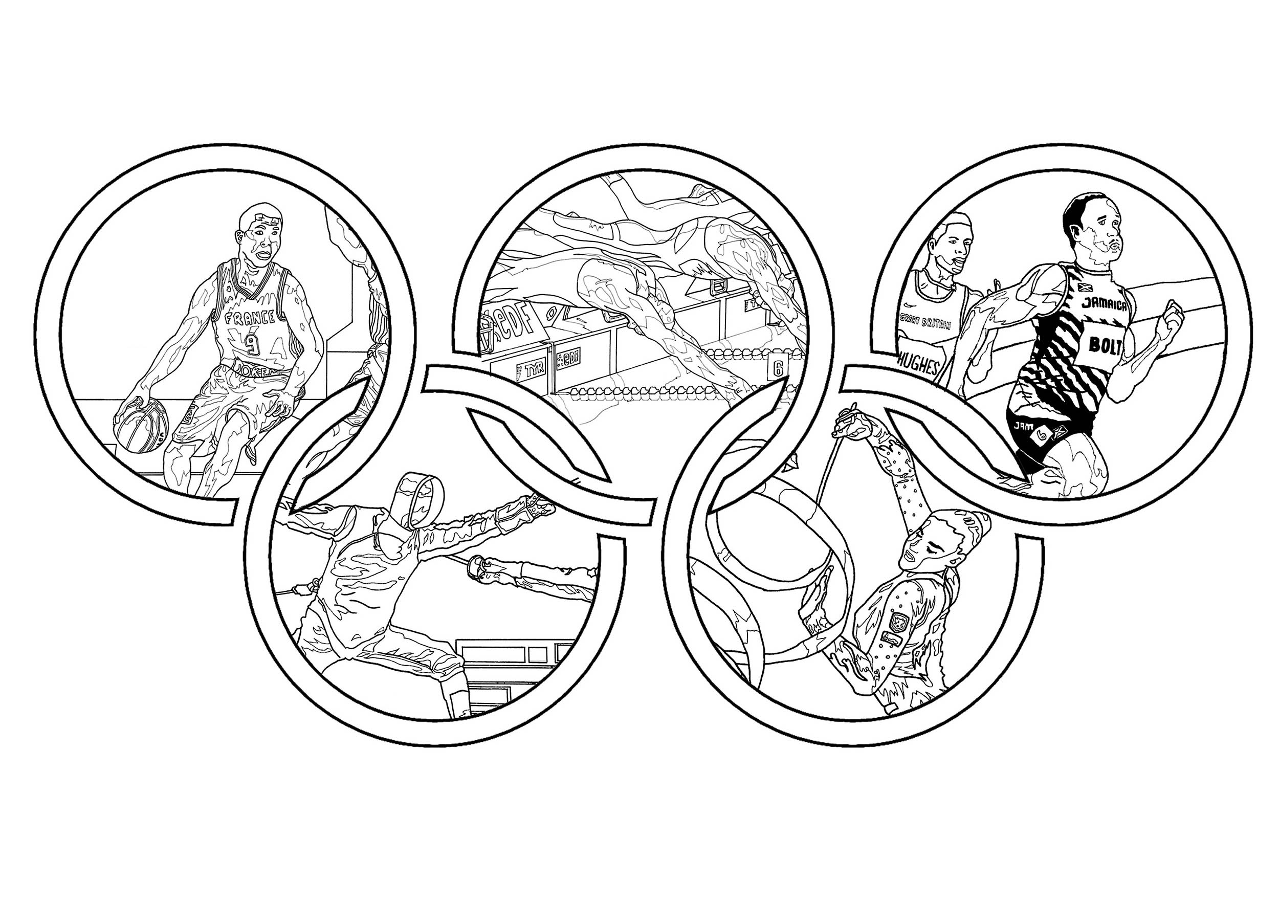 olympic games and sport adult coloring olympics monkeys hard sheets pictures covered cart coloring pages Olympics Coloring Page