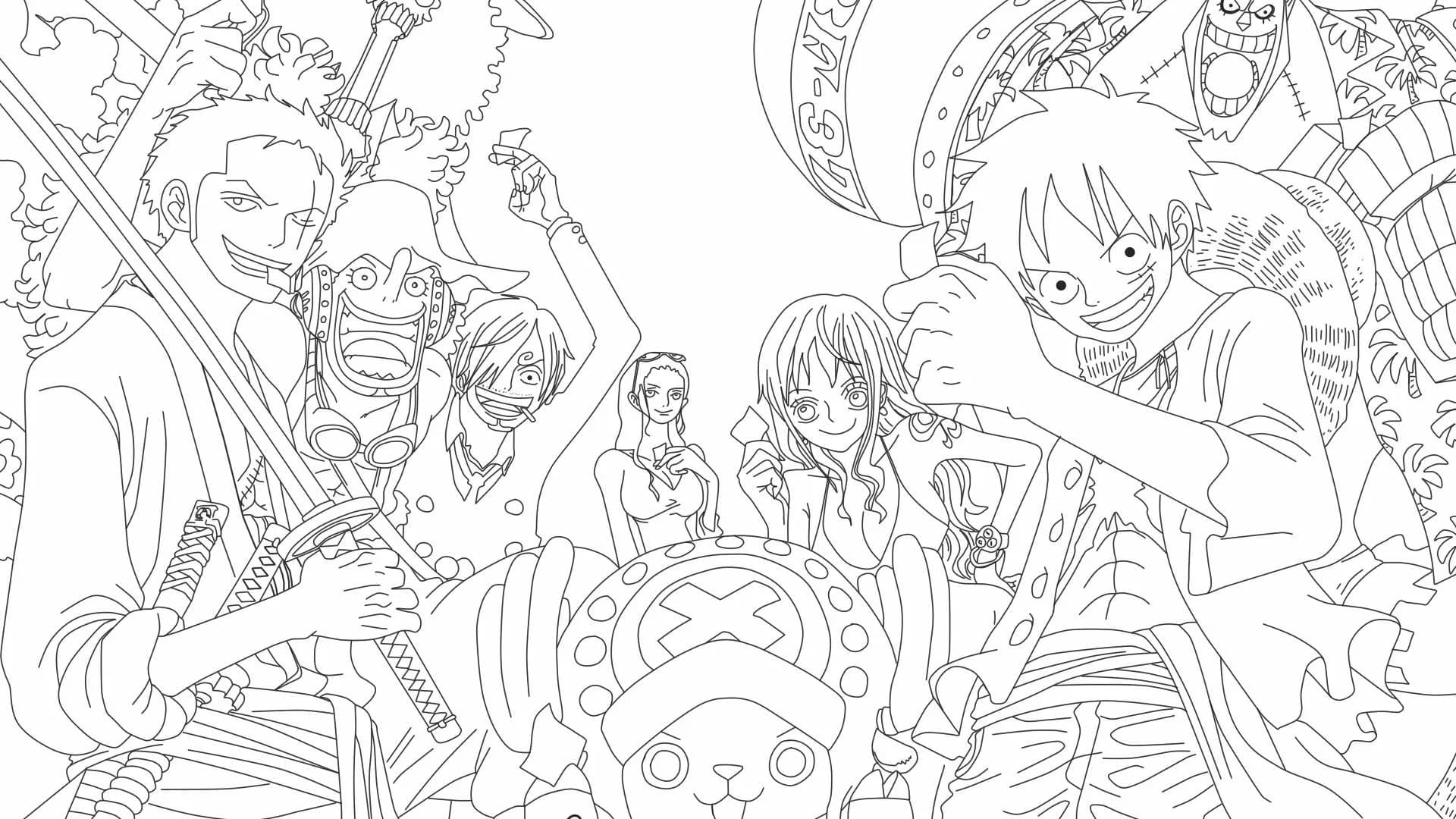 one piece coloring images free printable raskrasil about plants crayola clipart slime coloring pages One Piece Coloring Page