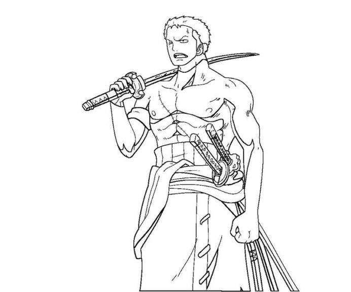one piece zoro coloring chibi pumkin francinstine about plants police officer sheet coloring pages One Piece Coloring Page