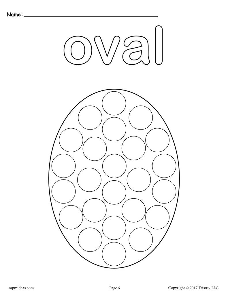 oval worksheets tracing coloring cutting more supplyme shapes bingo dauber 1024x1024 coloring pages Oval Coloring Page