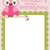owl birthday party with free printables to nest for less printable invitations invite coloring pages Free Printable Owl Invitations