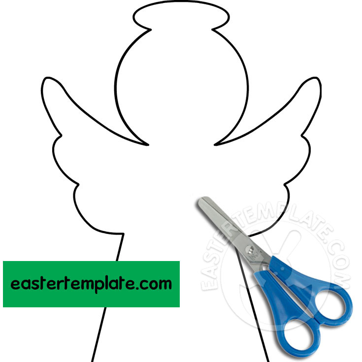 paper angel template free easter printable bunny ears educational toys for girls pea coloring pages Angel Template Printable Free
