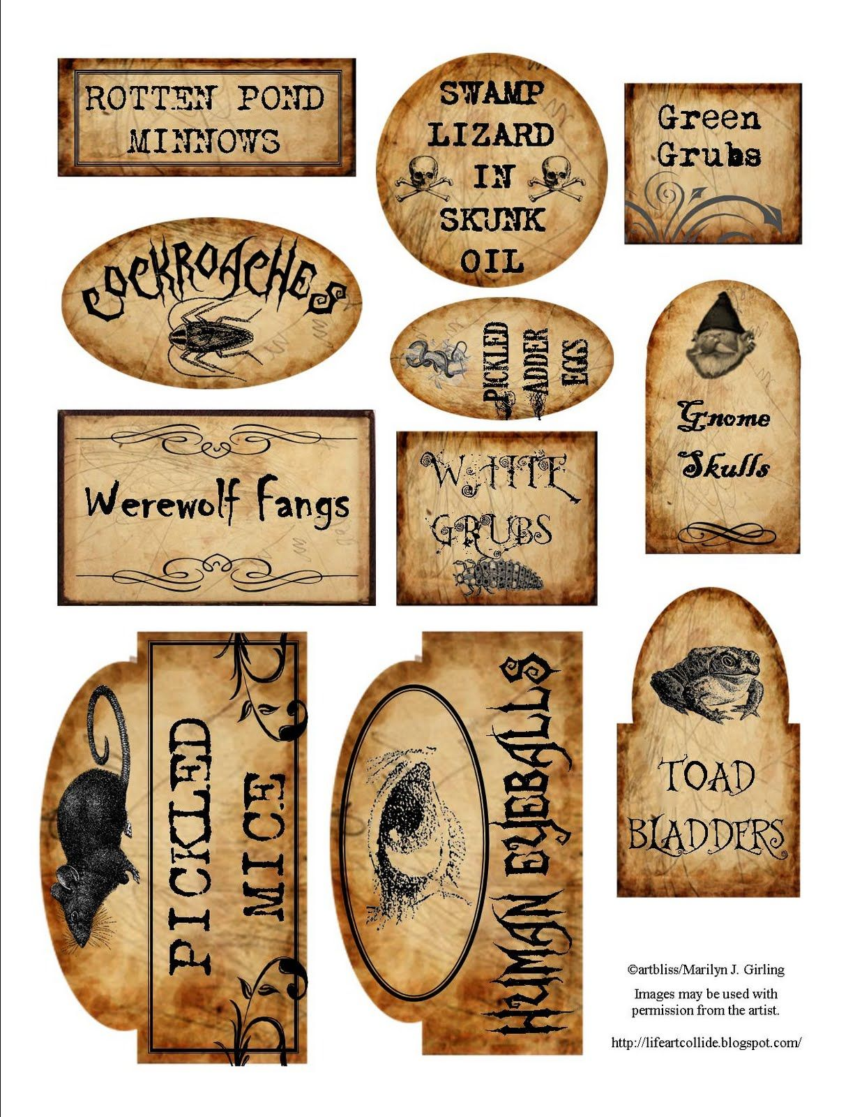 papercraft apothecary labels tags ideas halloween potions free printable wizard sketch coloring pages Free Printable Halloween Apothecary Labels
