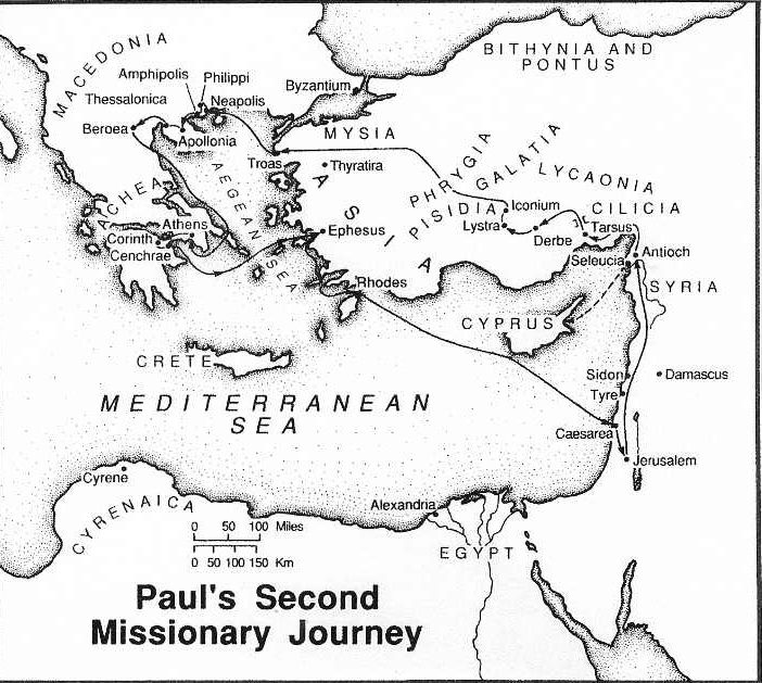 pauls second missionary journey map maps catalog paul coloring uncolored markers for coloring pages Paul's Second Missionary Journey Coloring Page