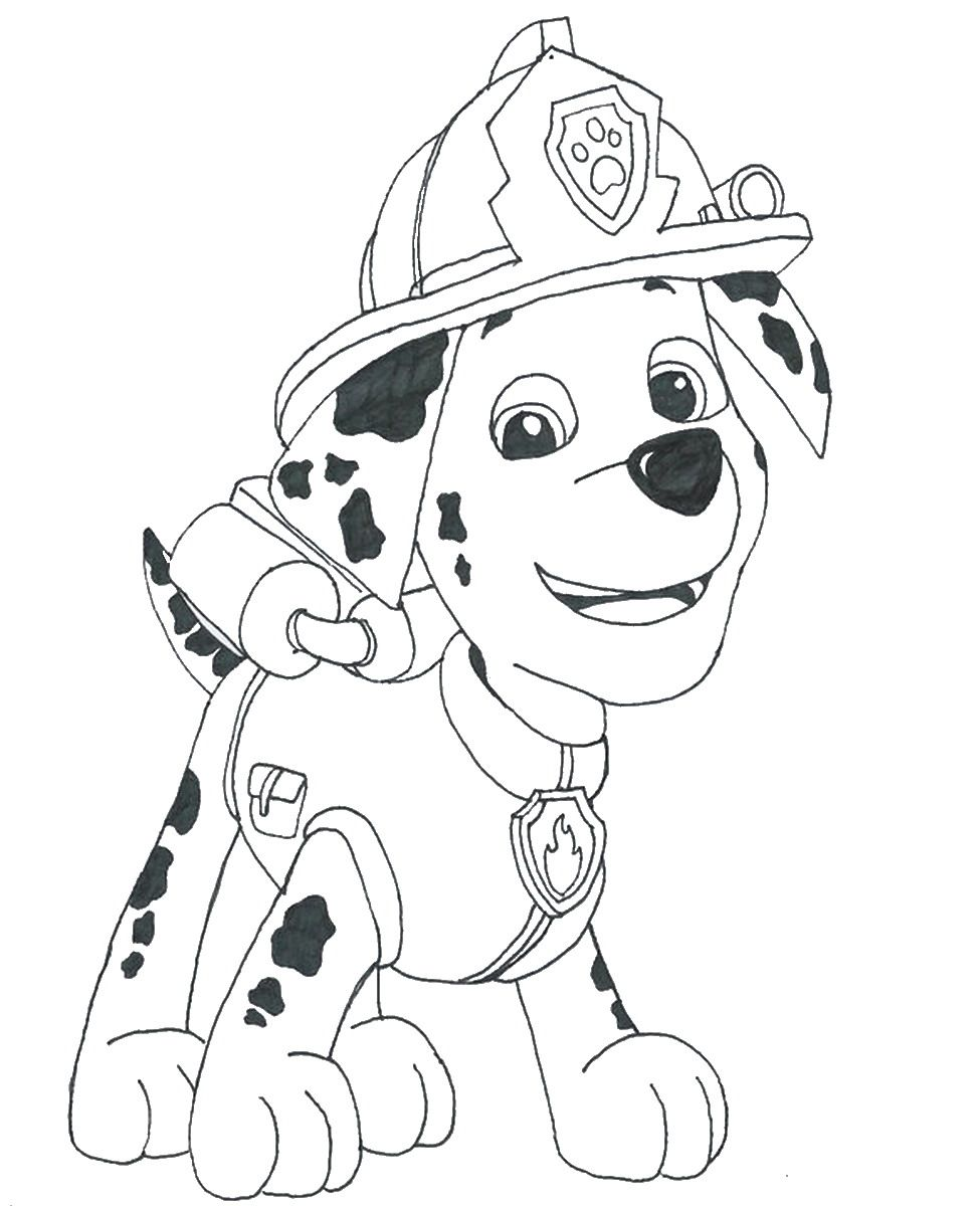 paw patrol coloring and firetruck home 4ib4mkrrt halloween sheets crayola crayon color coloring pages Marshall Coloring Page