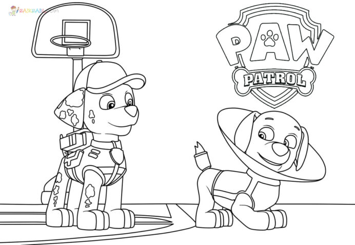 paw patrol coloring pictures free printable raskrasil unique puzzle and together kids coloring pages Coloring Page Paw Patrol
