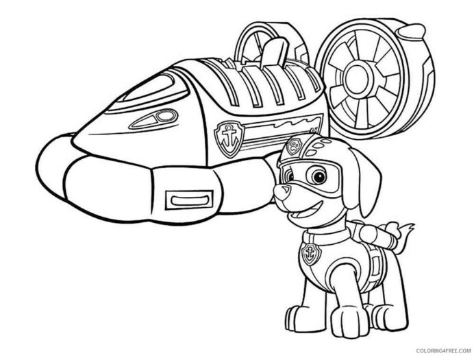 paw patrol coloring tv film zuma printable coloring4free color by number colors crayola coloring pages Zuma Paw Patrol Coloring Page