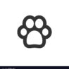 paw print icon graphic design template royalty free vector dog stencil printable string coloring pages Dog Paw Print Stencil Printable Free