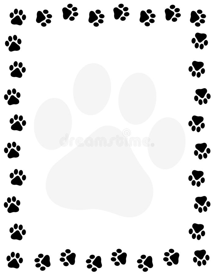 paw prints stock vector illustration of animal free printable border color super heros coloring pages Free Printable Paw Prints