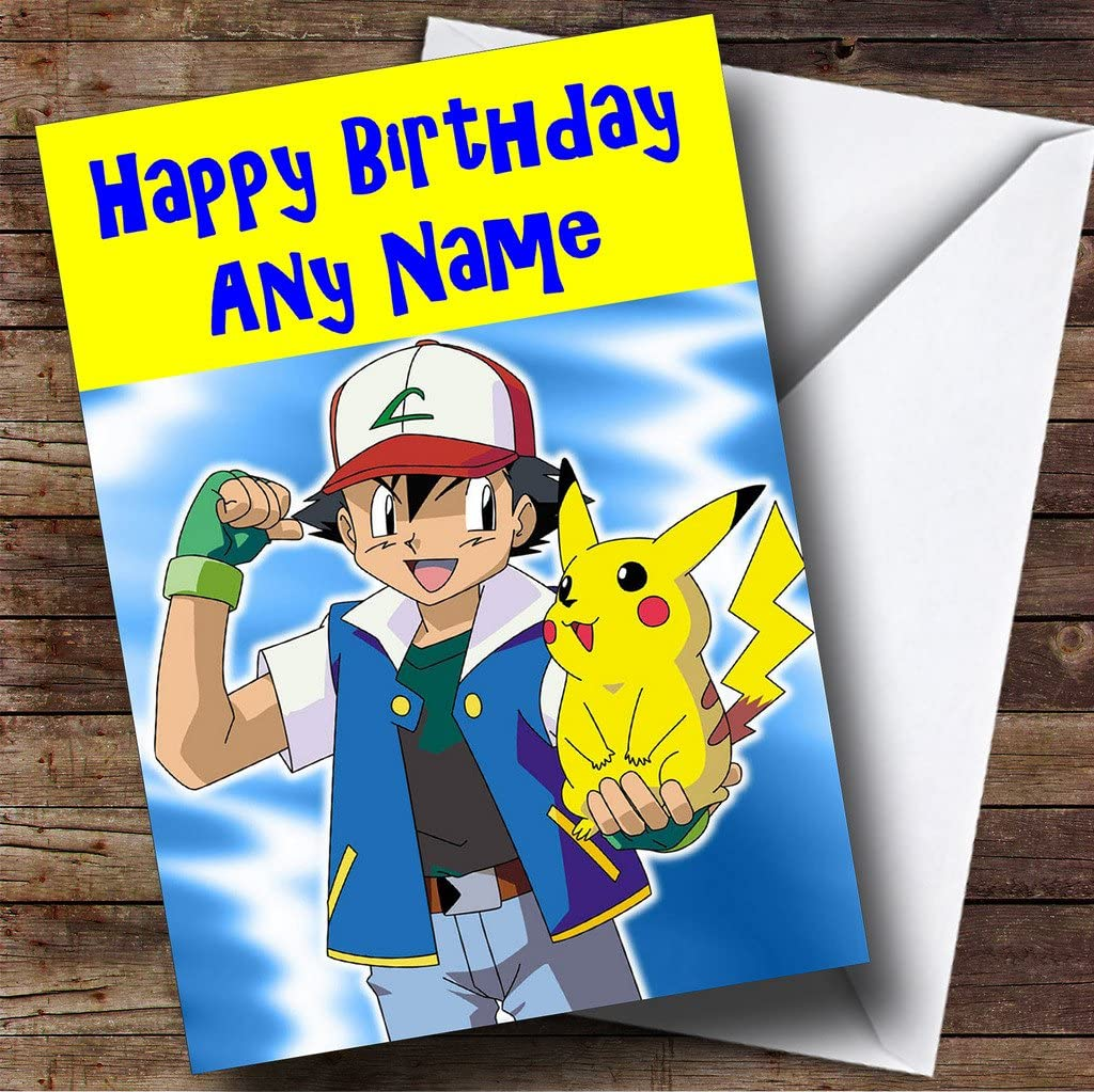 personalised pokemon pikachu birthday card stationery office supplies free printable coloring pages Free Printable Pokemon Birthday Cards