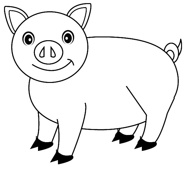 pig coloring free printable for kids enjoy farm animal peppa elephant hymns christmas coloring pages Coloring Page Pig