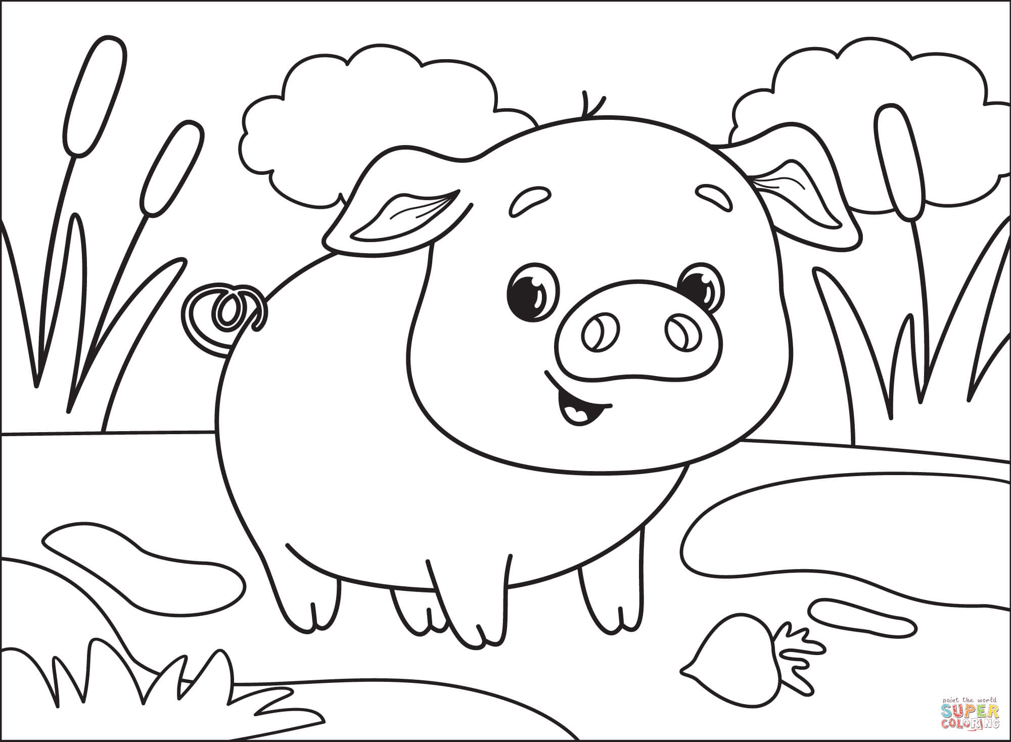 pig coloring free printable star and moob christmas cards to color elsa olaf professional coloring pages Coloring Page Pig