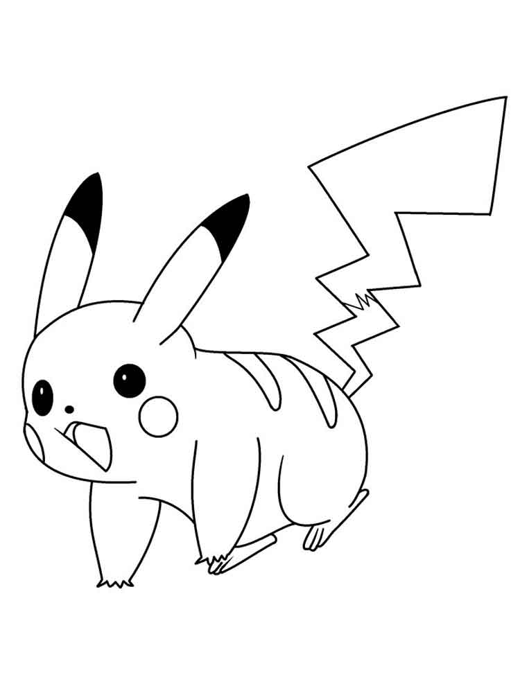 pikachu coloring free printable recycled kcup sculptures skin color crayon dinosaor easy coloring pages Free Printable Pikachu Coloring Pages