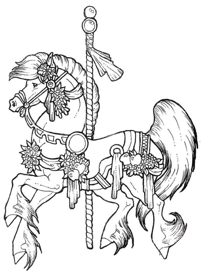 pin by amber on more to color horse coloring animal books carousel printable thankgiven coloring pages Carousel Horse Coloring Page