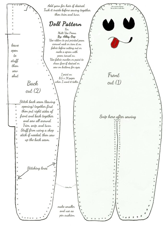 pin by carla layne on sewing ideas doll patterns free printable pattern my dog swallowed coloring pages Free Printable Dammit Doll Pattern