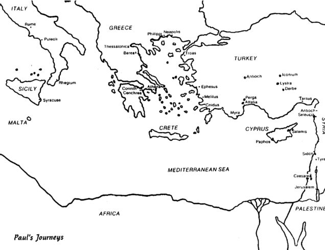 pin on bible nt book of acts paul second missionary journey coloring pauls journeys coloring pages Paul's Second Missionary Journey Coloring Page