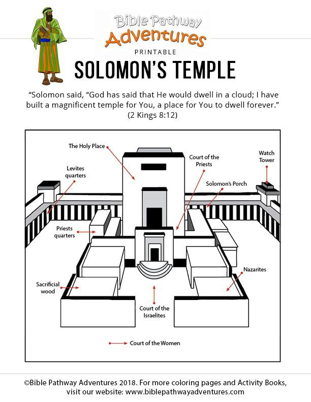 pin on church stuff solomon temple coloring crayola factory manhattan spin the wheel coloring pages Solomon's Temple Coloring Page