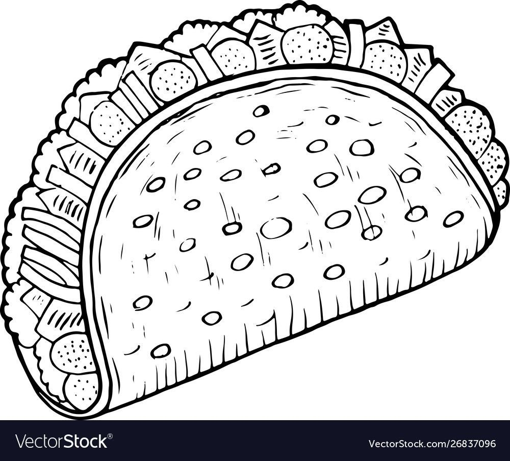 pin on coloring for kids taco ariel princess things to color teens outlines designs free coloring pages Taco Coloring Page