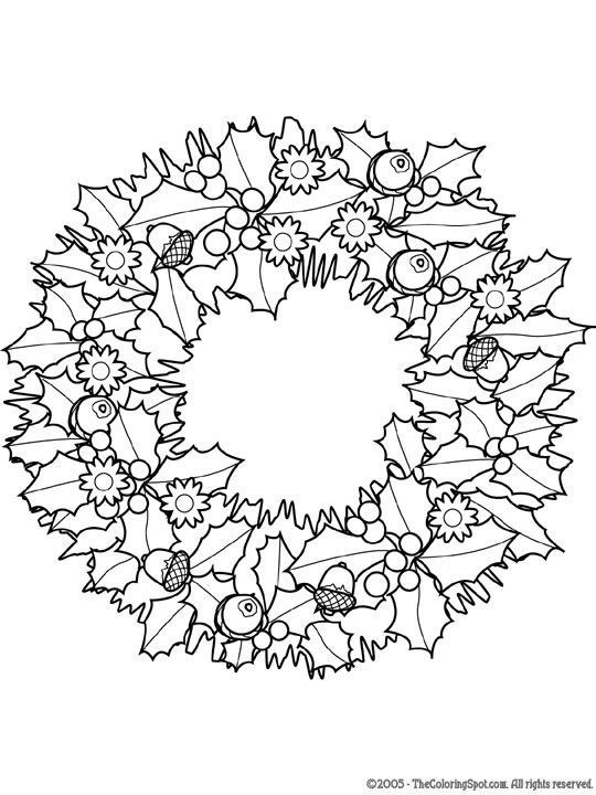 pin on herbst basteln wreath coloring christmas colors wreaths rain sticks diy my first coloring pages Wreath Coloring Page