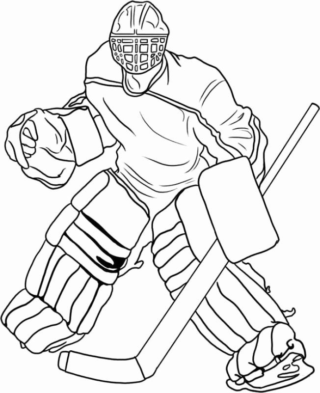 pin on hockey player coloring light board for tracing mermaid tempura paint capital coloring pages Hockey Player Coloring Page