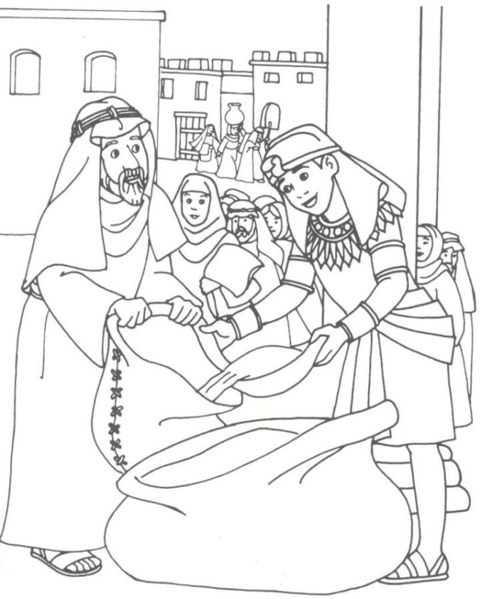 pin on kids crafts for church joseph and his brothers coloring coat of many colors bible coloring pages Joseph And His Brothers Coloring Page