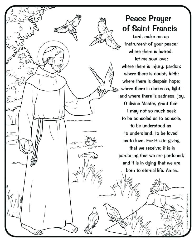 pin on kids crafts st francis of assisi coloring mixing water colors bigfoot faces coloring pages St Francis Of Assisi Coloring Page