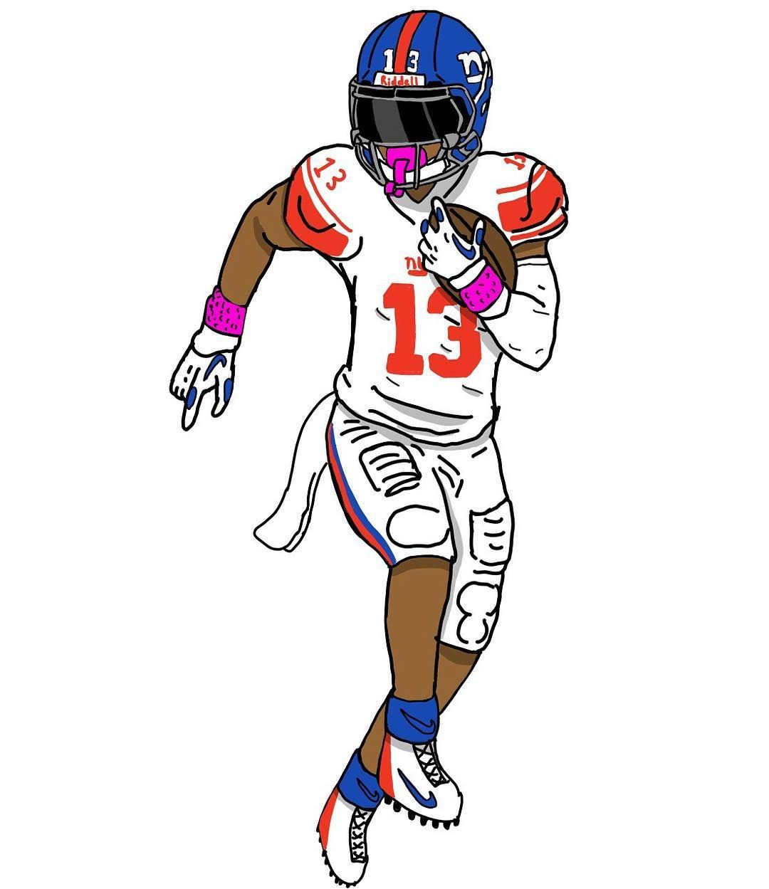 pin on new giants logo odell jr coloring computer crayola template to print disney coloring pages Odell Beckham Jr Coloring Page