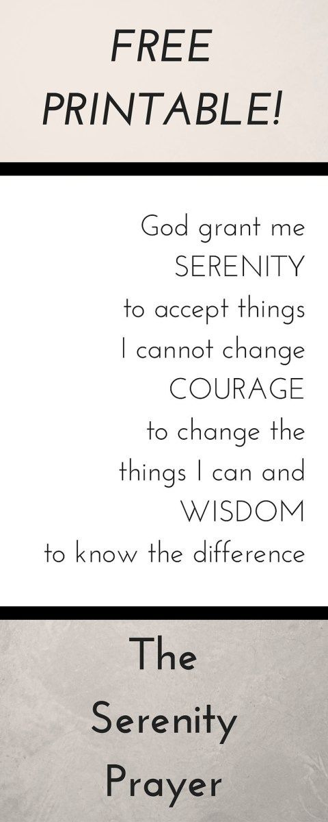 pin on papergoods free printables printable serenity prayer modern fonts mexican horse coloring pages Free Printable Serenity Prayer