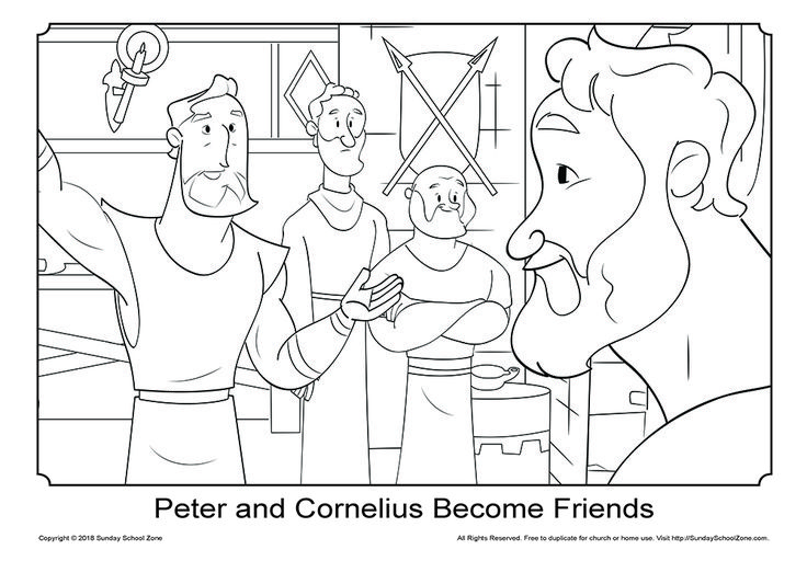 pin on peter and cornelius bible activities coloring rainbow crayon tshirt ring toss base coloring pages Peter And Cornelius Coloring Page