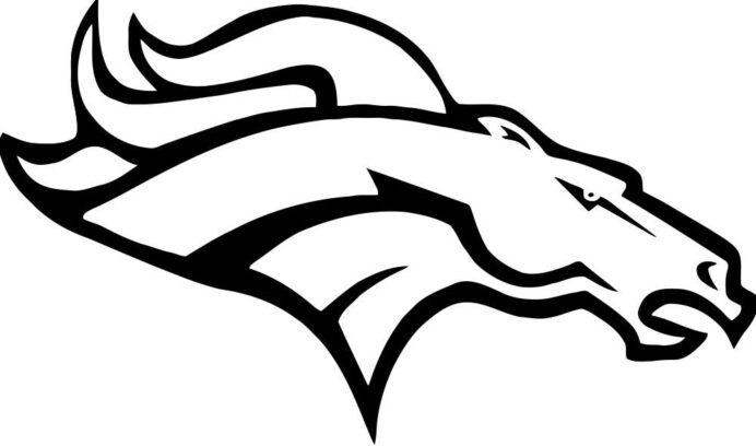 pin on point football broncos coloring teen art set school spirit color kits fx projector coloring pages Broncos Coloring Page