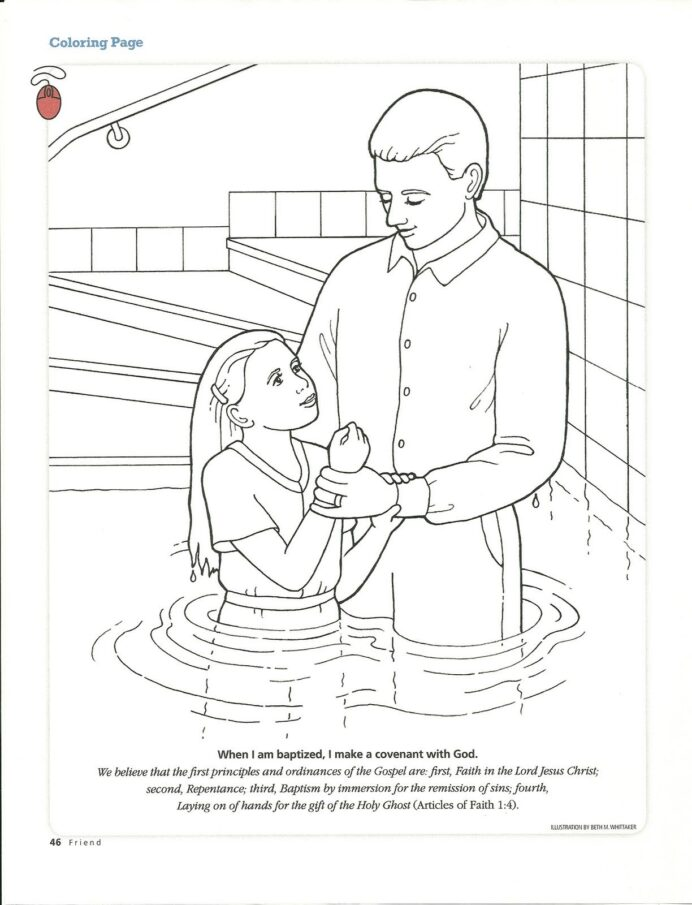 pin on rosary baptism lds coloring printable pictures of outside patterned cardstock boy coloring pages Baptism Lds Coloring Page