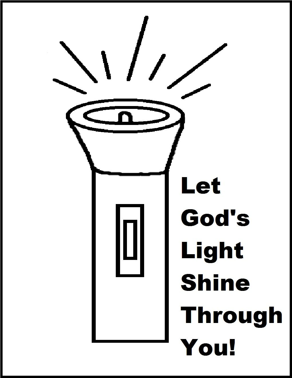 pin on sunday school let your light shine coloring mystery color by number hard newspaper coloring pages Let Your Light Shine Coloring Page