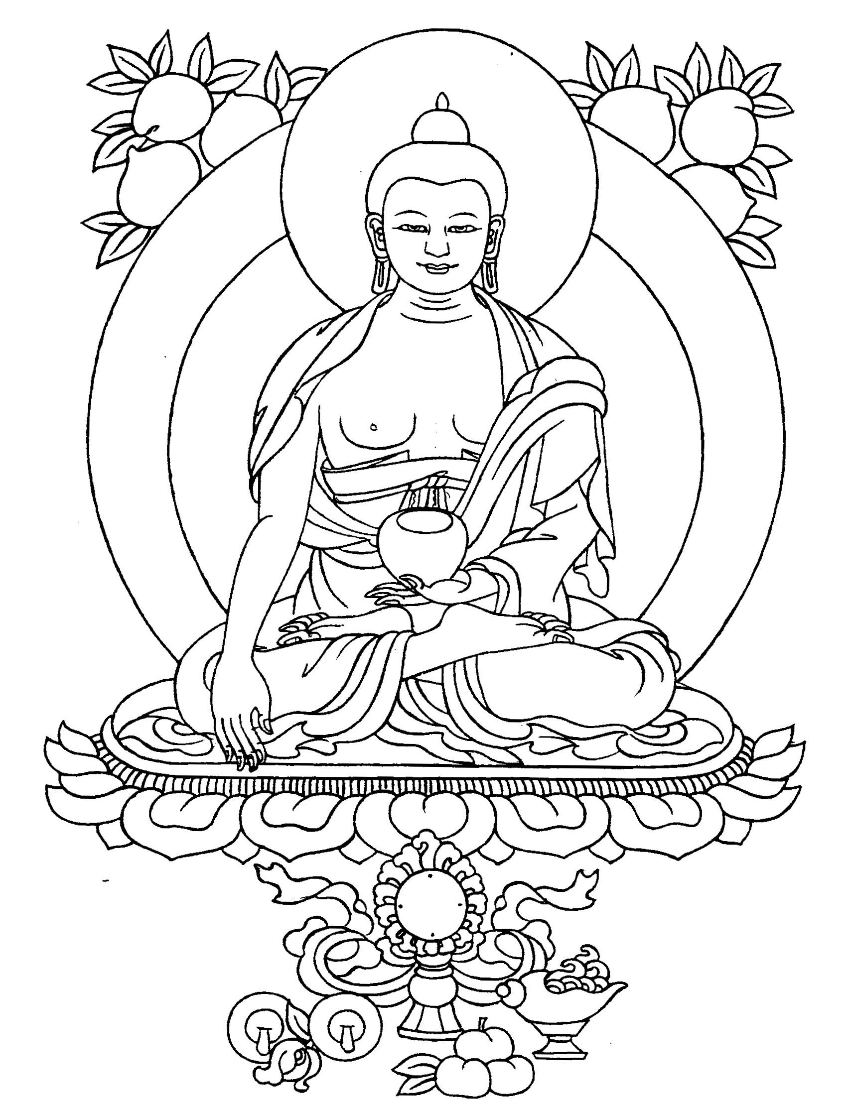 pin on tattoos piercings buddha coloring horse drawing print out count down calendar coloring pages Buddha Coloring Page