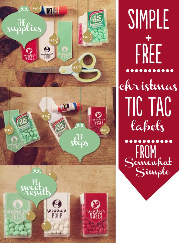 pin on the one stop diy shop free printable tic tac labels christmas care package small coloring pages Free Printable Tic Tac Labels