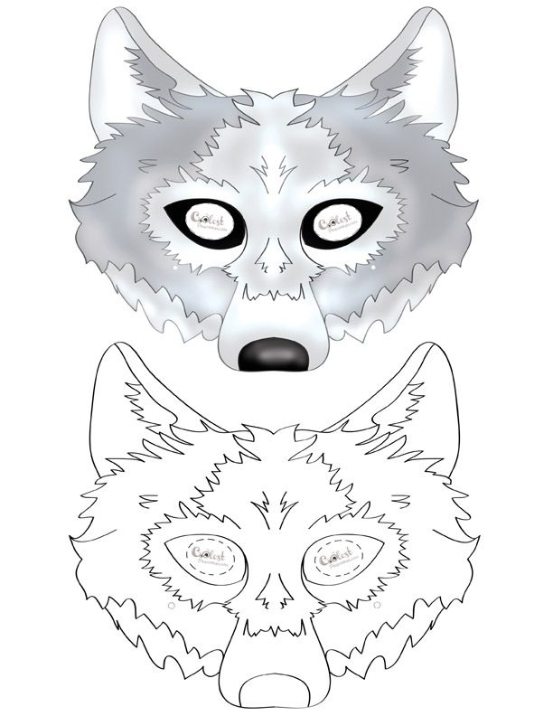 pin on wolf birthday party ideas free printable mask construction paper art phone holder coloring pages Free Printable Wolf Mask