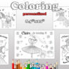 pink girl coloring birthday by magianrainbow on pinkalicious gallery hero crayola coloring pages Pinkalicious Coloring Page