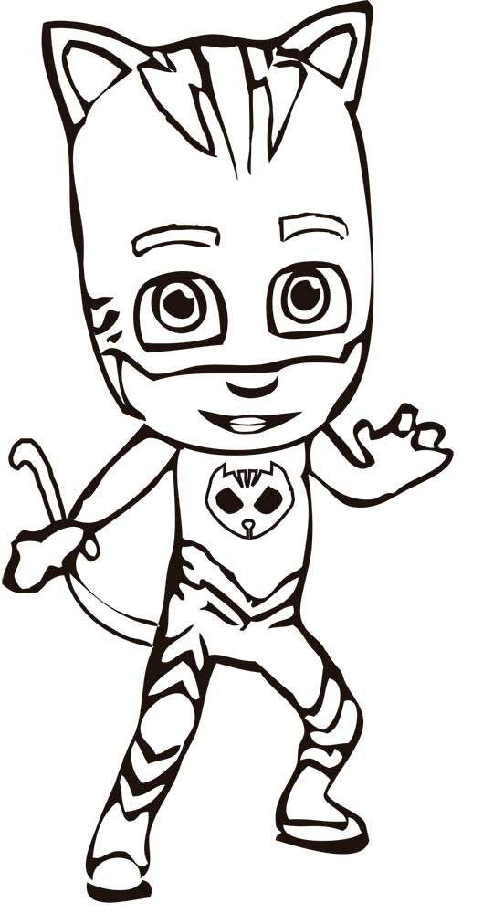 pj masks coloring idea whitesbelfast catboy best for kids pictures of cometas spiderman coloring pages Catboy Coloring Page