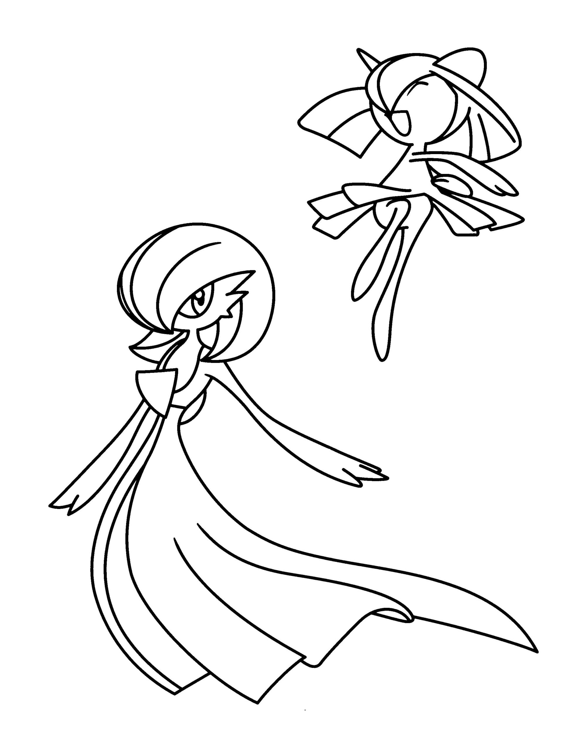 pokemon coloring gardevoir from the thousands of photos on internet concerning pokem coloring pages Gardevoir Coloring Page