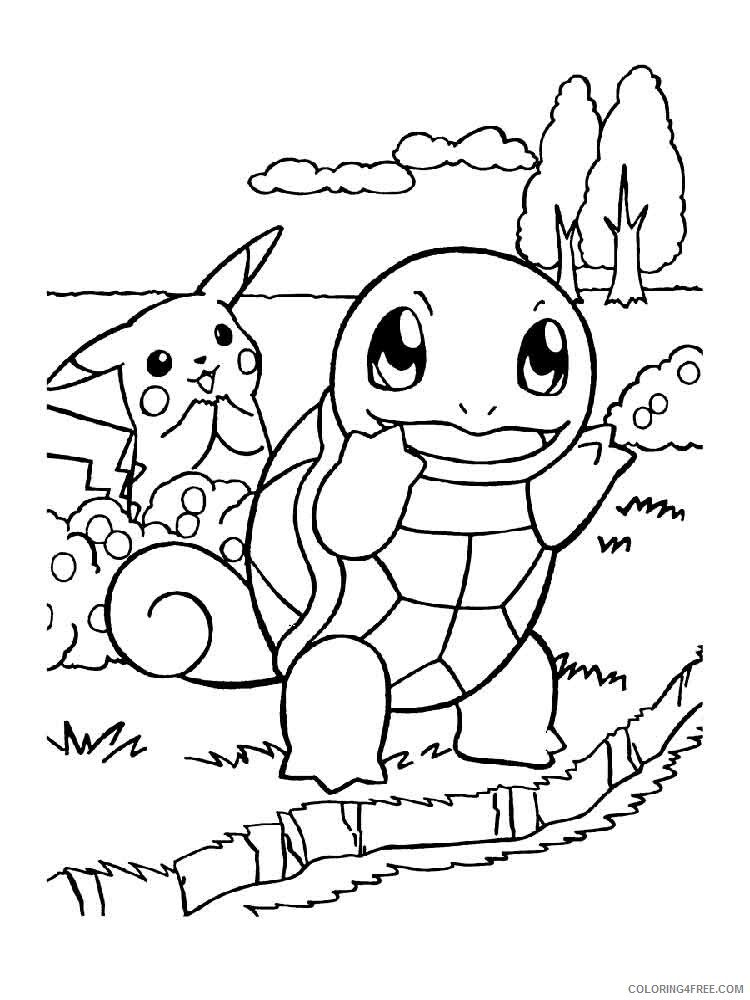 pokemon squirtle coloring printable coloring4free frozen elsa name keychains kid painting coloring pages Squirtle Pokemon Coloring Page